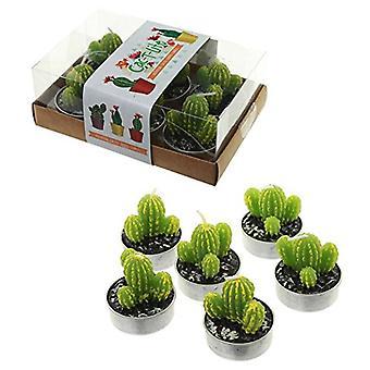 Puckator stacheligen Kaktus Teelichter 6er-Set