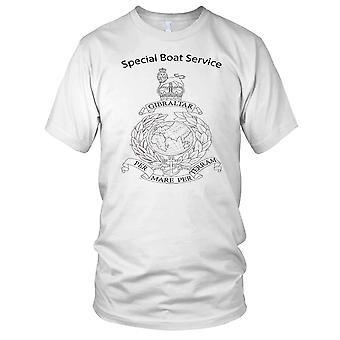 SBS Special Boat Service verden og Laurel Royal Marines B&W Kids T skjorte