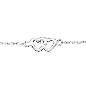 Heart - 925 Sterling Silver Chain Bracelets - W18531X