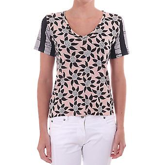 Paul Smith Printed Floral T Shirt With Contrast Sleeve