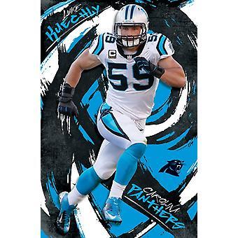 Carolina Panthers - Luke Kuechly 16-Plakat-Druck