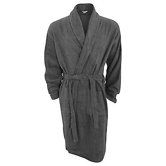 Mens Plain Cotton Towelling Robe/Dressing Gown