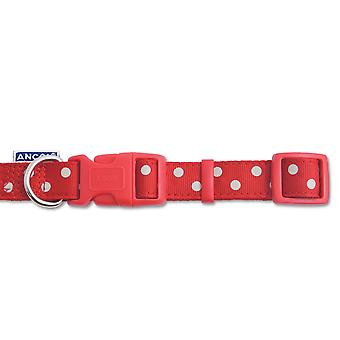 Ancol Pet Products Indulgence Adjustable Vintage Polka Dot Dog Collar