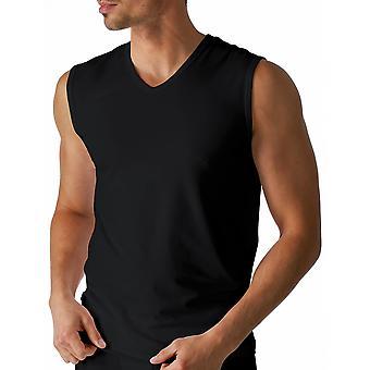 Mey 46137-123 mäns torr bomull svart färg linne Vest