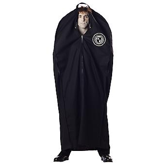 Body Bag Morgue Dead Man Crime Scene Halloween Horror Mens Costume One Size