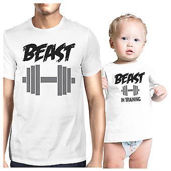 Besta em formação pai e bebê presente de correspondência de t-shirts dia dos pais