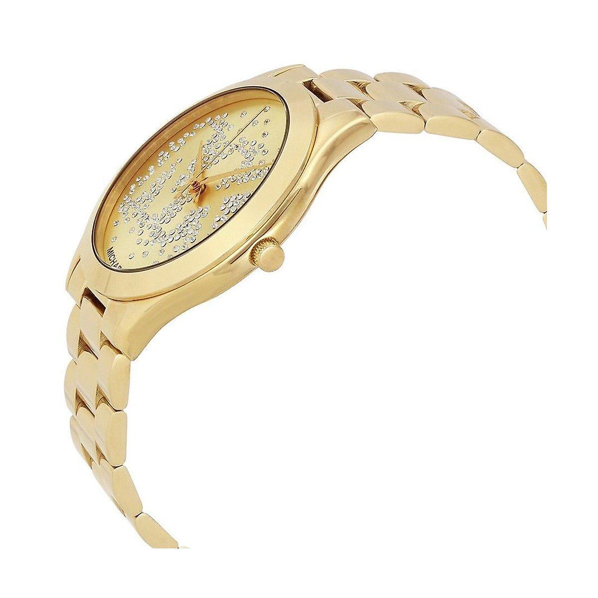Michael Kors mince piste Womens Mesdames poignet montre bracelet en or visage Dial MK3590