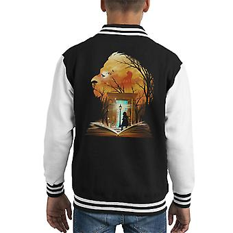 Chronicles Of Narnia Aslan Wardrobe Collage Kid's Varsity Jacket