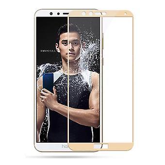 Premium 0,3 mm piegato H9 temperato vetro foglia oro per Huawei honor 7 X nuovo