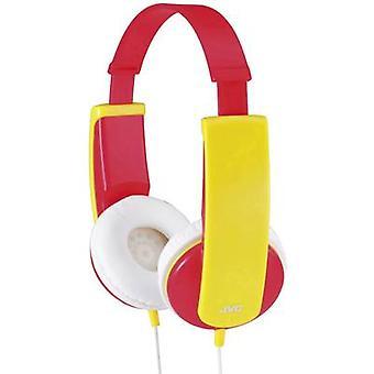 JVC HA-KD5-R-E Children On-ear headphones On-ear Volume limiter, Light-weight headband Red, Yellow