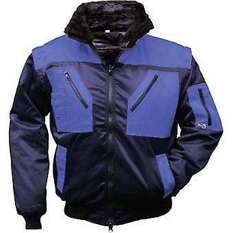 L+D Griffy 4209 4-in-1 Multi-Functions-Pilot jacket with warning effect. Dark blue, Royal blue XXXL