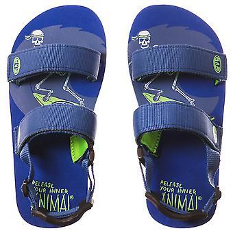 Dierlijke baby jongens Childrens Bodhy zomervakantie Flip Flops sandalen - blauw