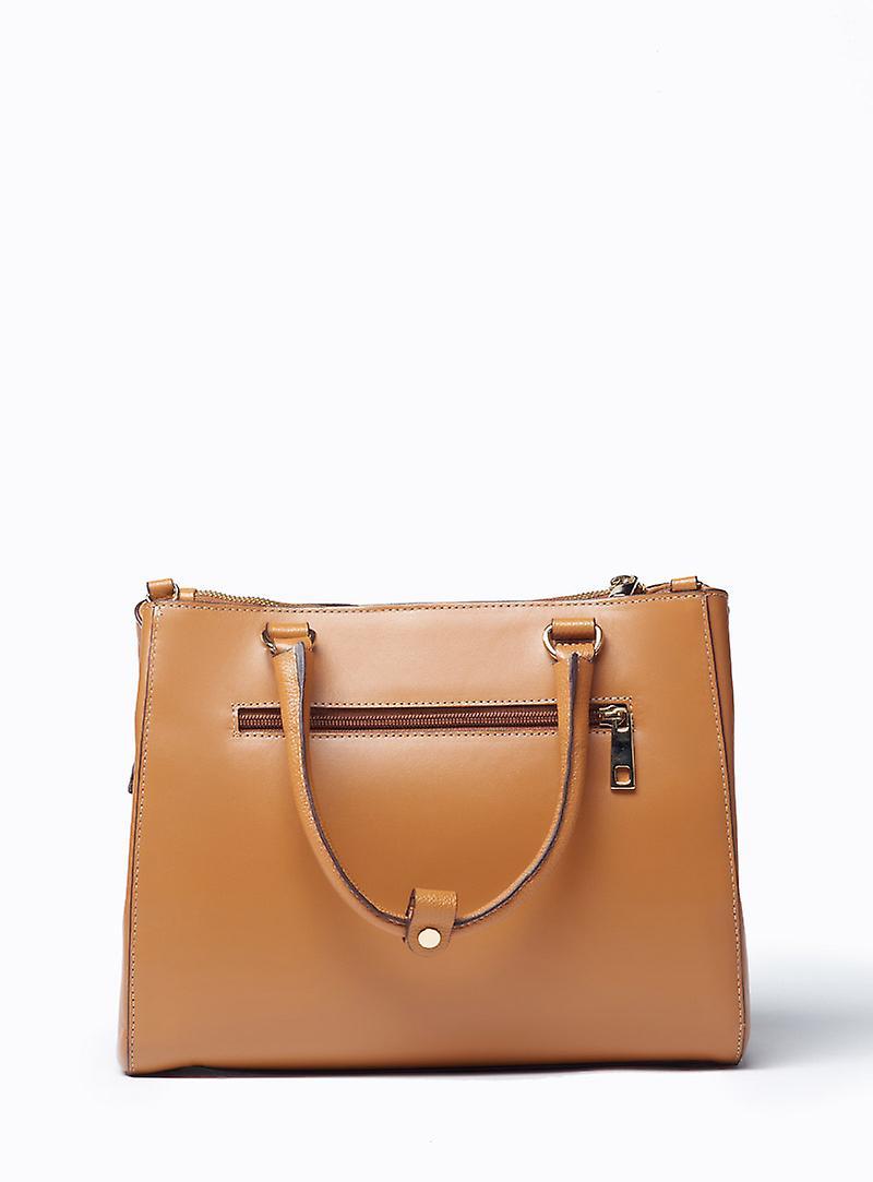 Viver Leather Handbag Olle Tan