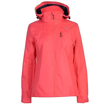 Gelert mujeres horizonte chaqueta impermeable capa superior protector barbilla transpirable con capucha