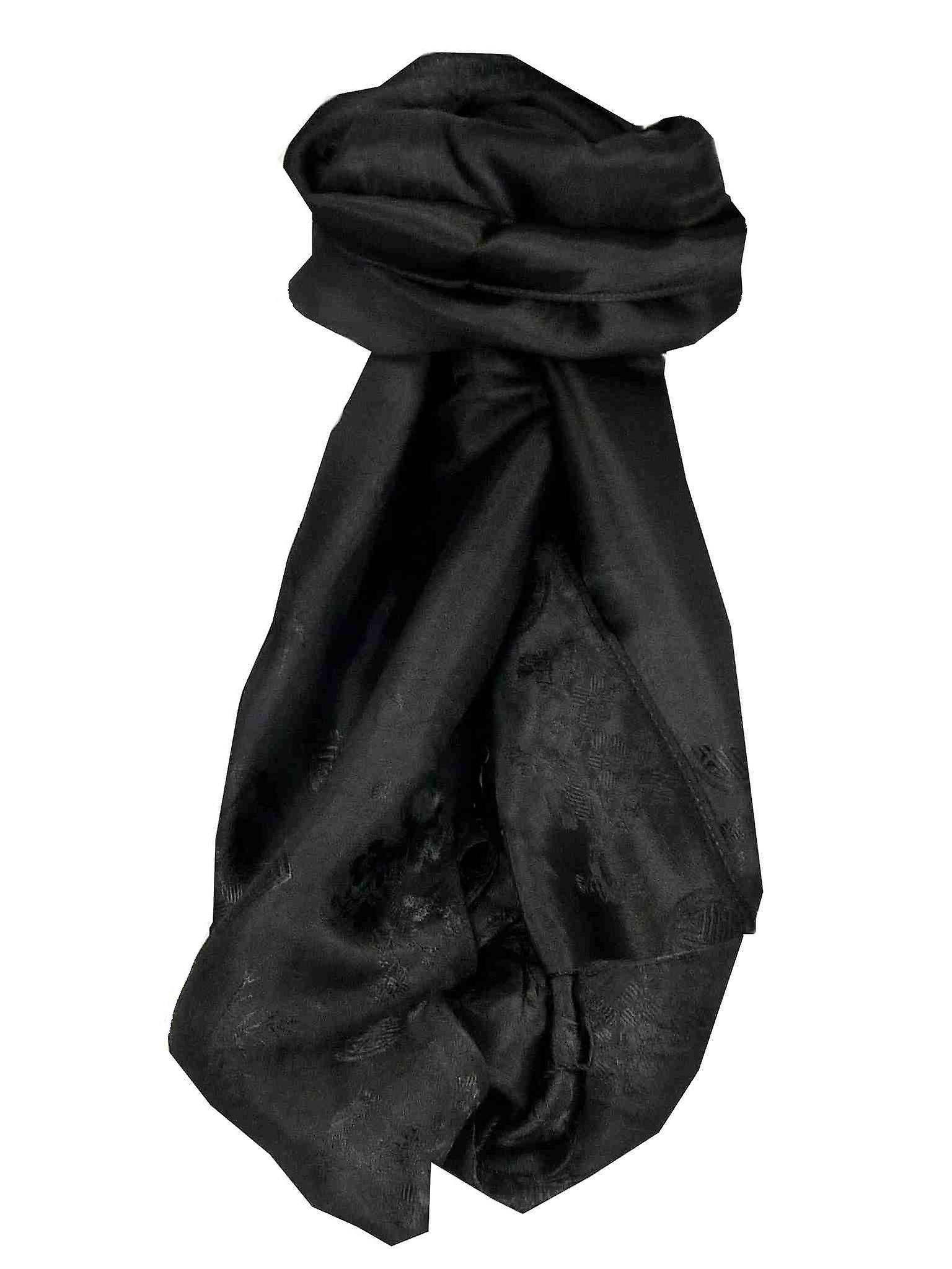 Vietnamese Silk Scarf Reversible Hoi-An Tro-Tram Black by Pashmina & Silk