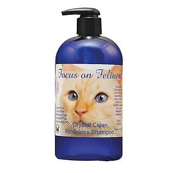 Focus On Felines Crystal Clean Rinseless Shampoo 532ml