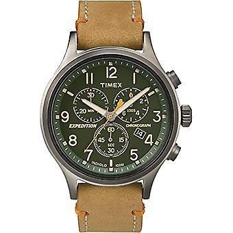 Timex kelloon chronograph kvartsi miesten katsella nahka TW4B04400