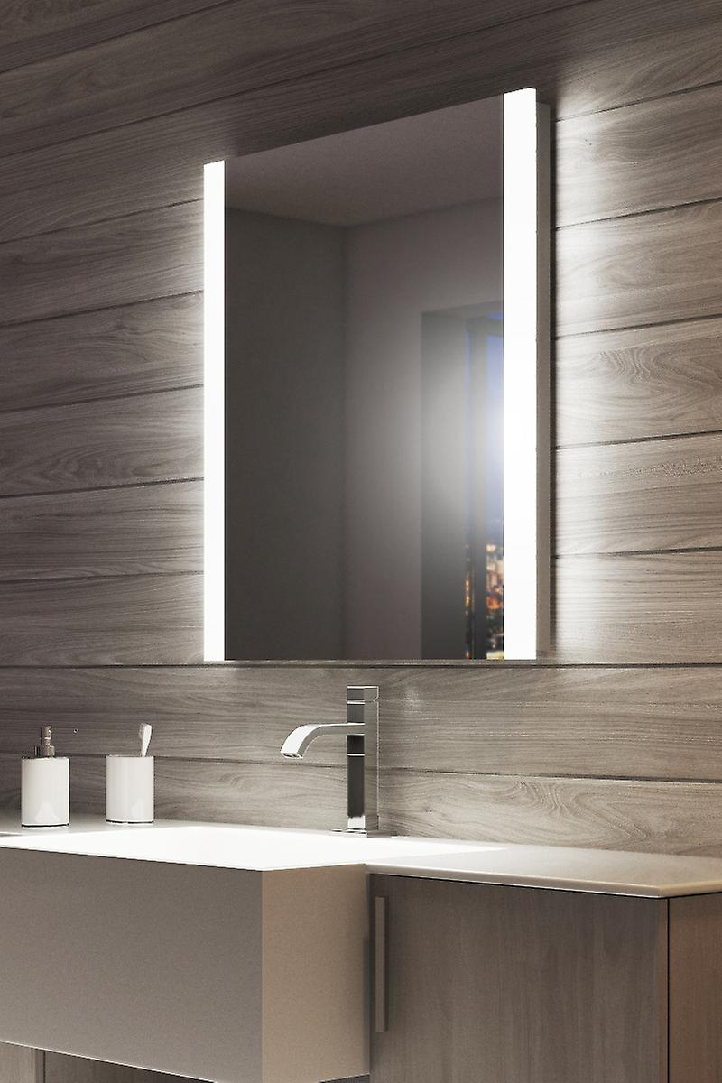 RGB Double Edge Bathroom Mirror with Shaver Socket k51vrgb