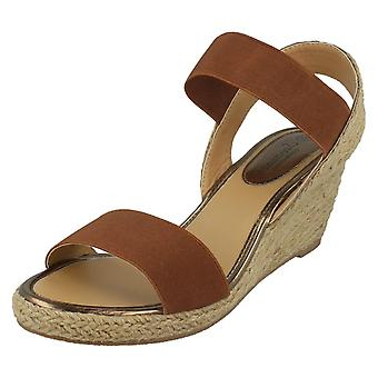 Mesdames savane haute corde Wedge Sandals F10865