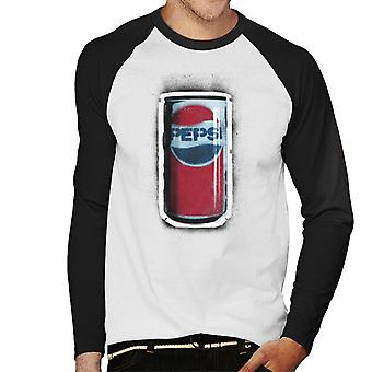 Pepsi 70s Graffiti Can Men's Baseball Long Sleeved T-Shirt