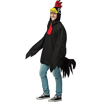 Black Rooster Adult Costume