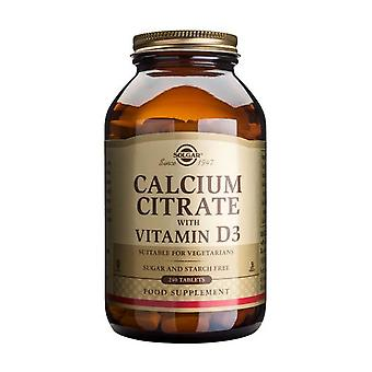 Solgar Calcium Citrate with Vitamin D3 Tablets, 240