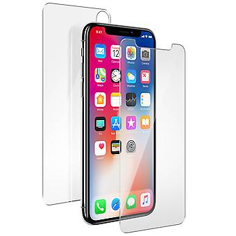 Muvit 2 Protection Films iPhone X / XS Tempered Glass Front / Rear 360 °