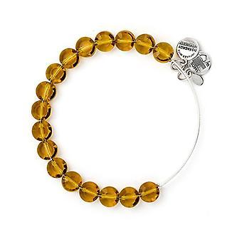 Alex ja Ani Dark Topaz Luxe bead Silver ranne rengas BBEB112S
