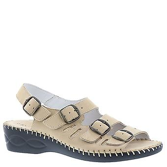 David Tate Womens Audrey Leather Open Toe Casual Slingback Sandals