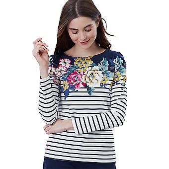 Joules Womens Harbour Printed Long Sleeve Relaxed Fit Top