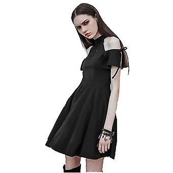 Punk rave - moon magic - goth cold shoulder dress