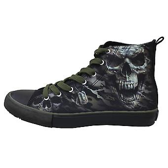 Spiral - camo skull - sneakers - men's high top laceup