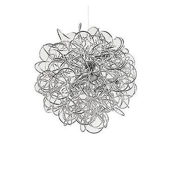 12 Light Large Ribbon Ceiling Pendant Argent