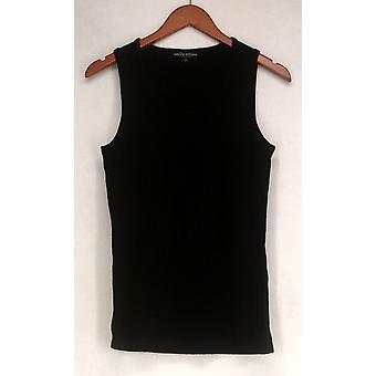Wendy Williams Sweater Sleeveless w/ Scoop Neck Tank Black Womens 510-182