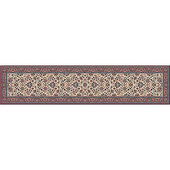 Royal Red 1561-505 Ivory ground with red border  Runner Rugs Traditional Rugs