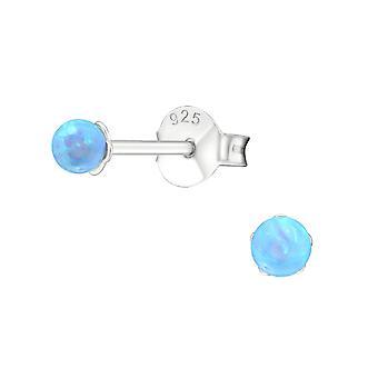 Bold - 925 Sterling sølv Opal og Semi ædle øret knopper - W23610x