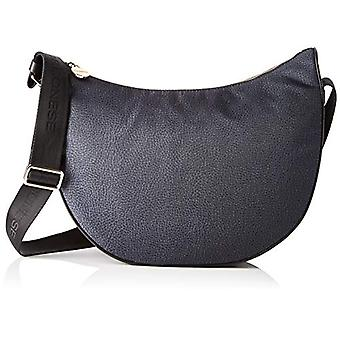 Borbonese Luna Bag Middle Women's Shoulder Bag (Black) 30x32x12 cm (W x H x L)