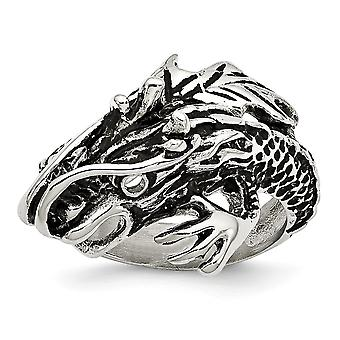Stainless Steel Polished Dragon Ring Jewelry Gifts for Women - Ring Size: 8 to 9