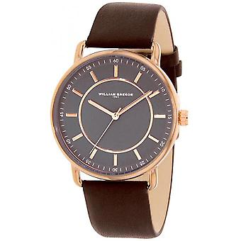 William Gregor in 1791 BWG10011G-813 - watch Leather Brown man