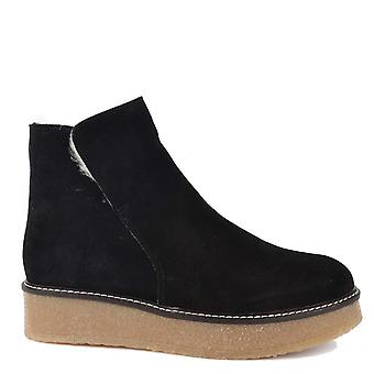 Shepherd of Sweden Nicki Black Suede Ankle Boot
