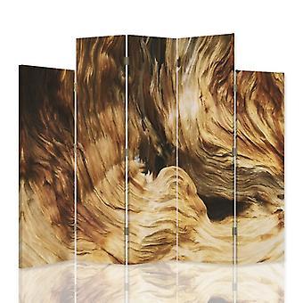 Dekorativa rumsavdelare, 5 paneler, dubbelsidig, canvas, struktur grotta 2