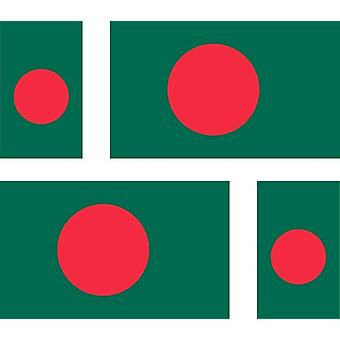 4 X adesivo adesivo adesivo auto auto moto Cicla3 Bandiera portatile Bangladesh Bandiera Bangladesh