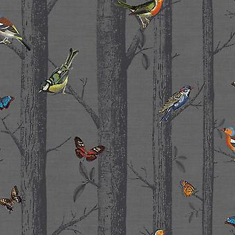 Epping Birds on Branches Wallpaper Holden