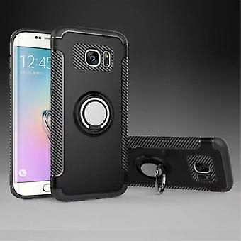 Samsung S7 Edge hybrid armor shell magnetic case black