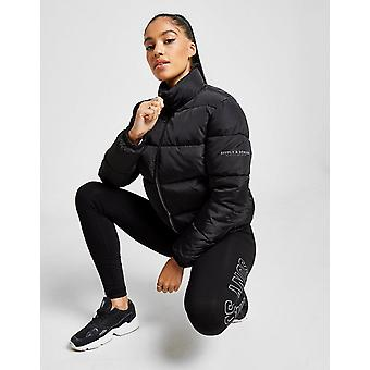 New Supply & Demand Women's Logo Puffer Jacket Black