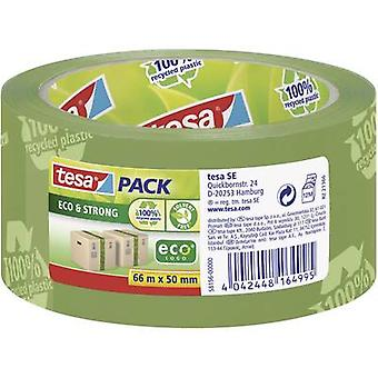 Tesapack® Eco & Strong 66 m x 50 mm Green (Printed)