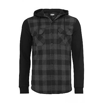 Urban Classics Hooded Checked Flannel Shirt