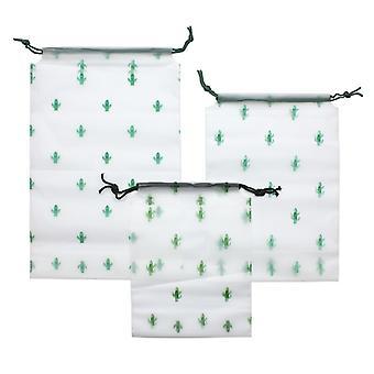 Sacs de rangement en 3-pack, Cactus