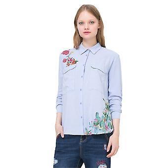 Desigual Frauen's langärmelig gestreift Miriam Shirt