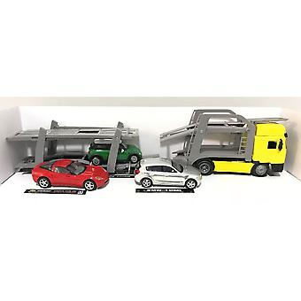 MAN F2000 Transporter with 3 Cars Plastic Model Lorry